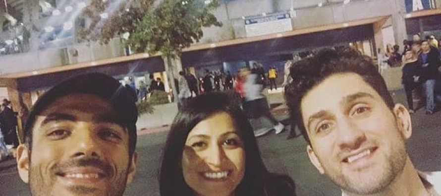 Adeel Hussain and Shaz Khan at Coldplay Concert