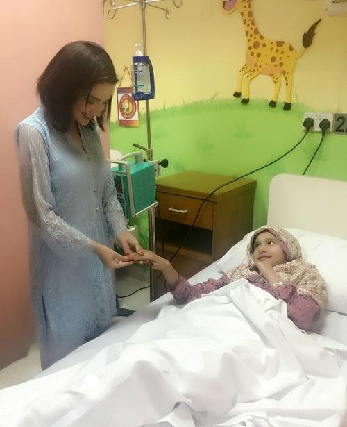 Armeena and Fesl Khan Visited SKMCH!