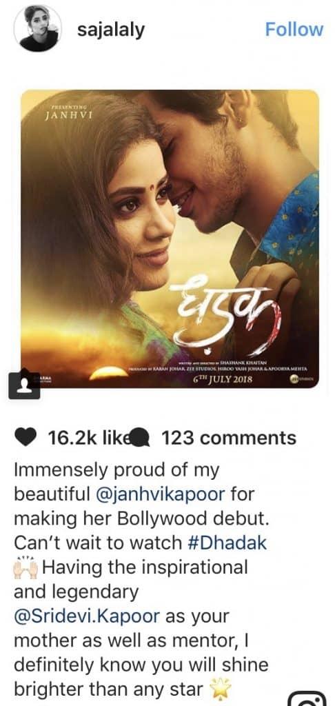 Sajal Ali Wishes Jhanvi Kapoor For Her Debut Movie