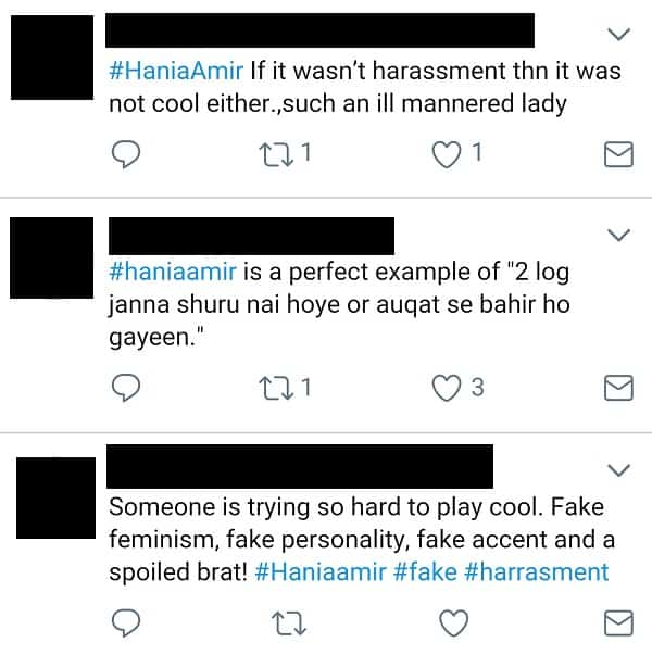 Hania Amir Lands In A Harassment Controversy!