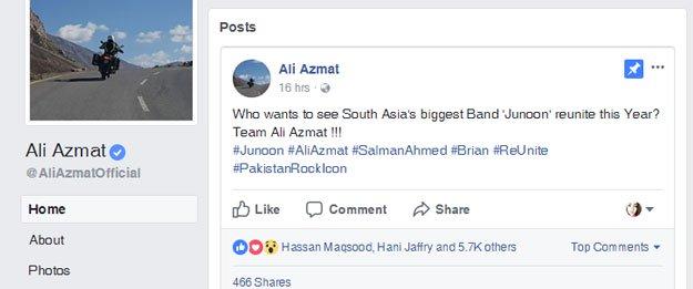 Ali Azmat Hints At A Junoon Reunion | Reviewit pk