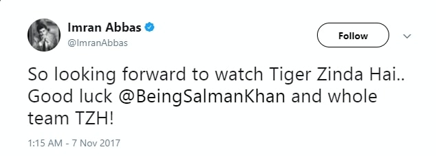 """Tiger Zinda Hai should be released in Pakistan"" Imran Abbas"