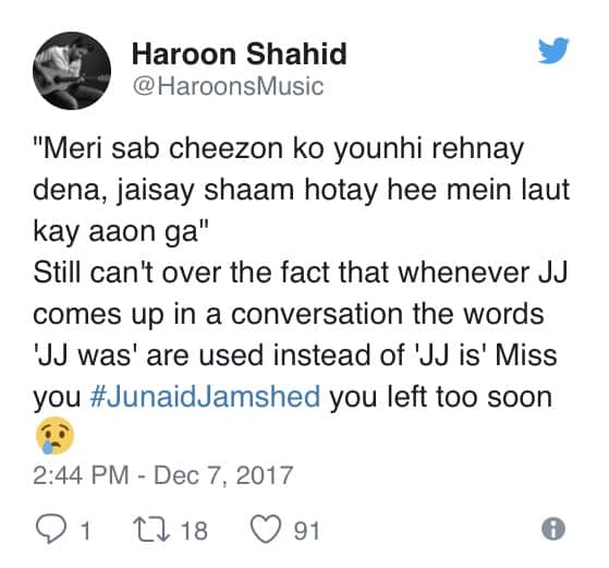 Celebrities Remember Junaid Jamshed On His First Death Anniversary