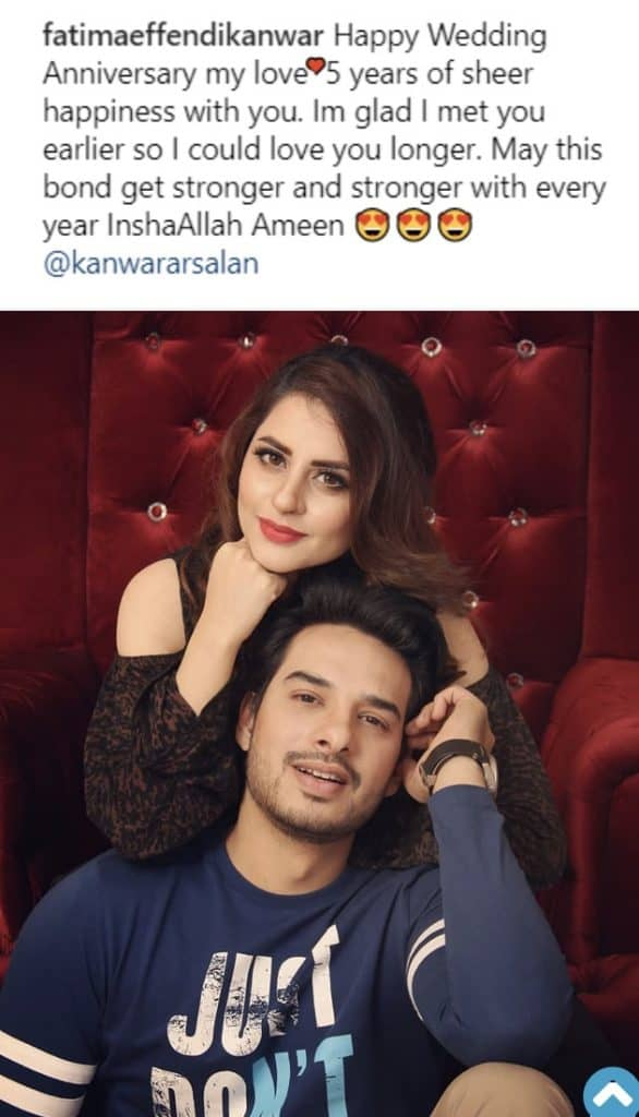 Fatima And Kanwar Celebrate 5th Wedding Anniversary