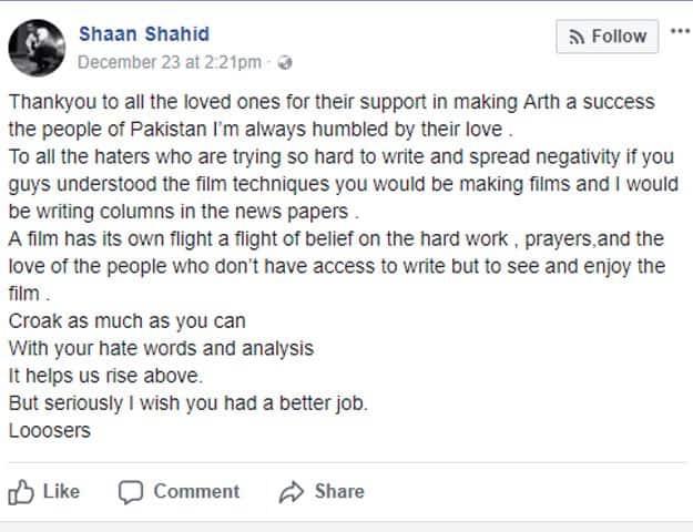 Shaan Shahid Had A Major Outburst Following Arth's Failure