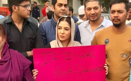 Celebrities Protest On The Roads For Zainab