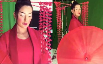 Mehwish Hayat Becomes Chinese For A Paint Ad !!
