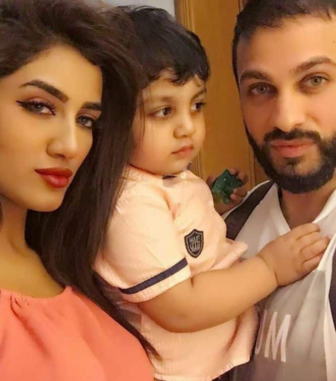 Mathira Husband and Son