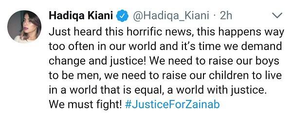 Celebrities Raise Voice For Zainab!