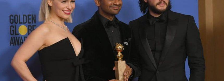 Aziz Ansari; first Asian male actor in Comedy to bag a Golden Globe Award