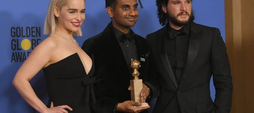 Aziz Ansari; first Asian male actor in Comedy to bag a Golden Globe Award