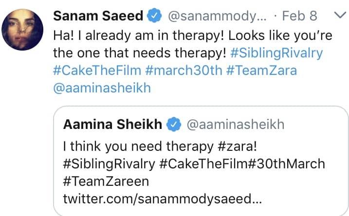 "#Teamzara Vs #Teamzareen For ""Cake"""