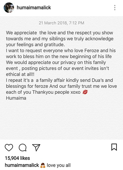 Humaima Malik Is Asking For Privacy!
