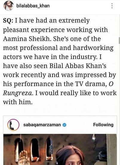 Saba Qamar Wants To Work With Bilal Abbas!