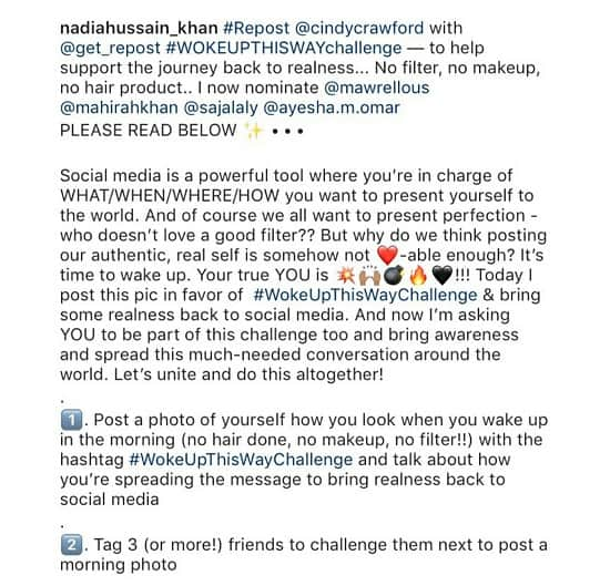 "Nadia Hussain Has Started ""Woke Up Like This"" Challenge!"