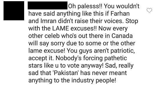 Mahira Khan Bashed For Not Voting In General Elections Due To Awards!