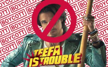 Protest At 'Teefa In Trouble' Premiere