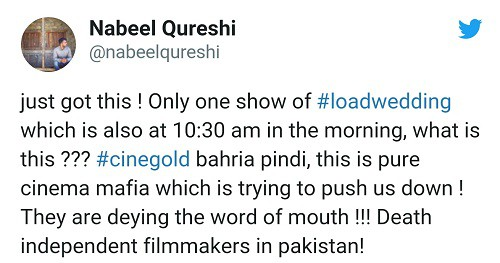 Nabeel Qureshi Is Unhappy With Lesser Screens For Load Wedding!