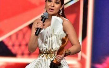 Ayesha Omar Wins The Most Stylish TV Host Award At HSA 2018