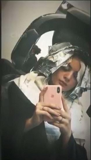 Minal Khan Had A Fun Hair Grooming Session!
