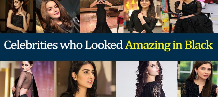 Pakistani Celebrities who Looked Amazing in Black