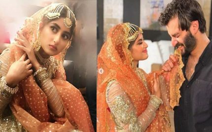 Sajal Ali BTS Pictures From The Sets Of Drama Alif