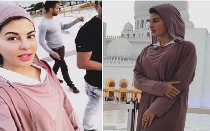 Jacqueline Fernandez Looked Beautiful In a Hijab – Grand Mosque