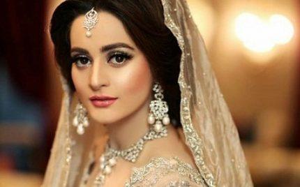 Aiman Khan Dazzles In A Silver Bridal Dress
