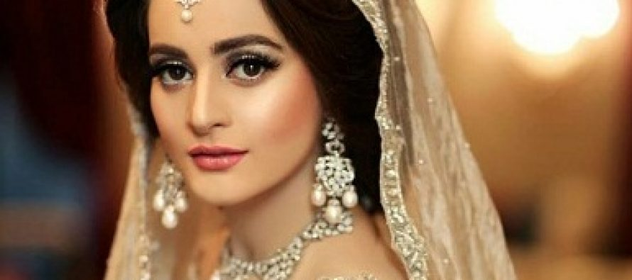 Aiman Khan Dazzles In A Silver Bridal Dress