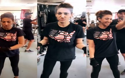 Shahid Afridi And Sana Fakhar's Video At The Gym Is Hilarious