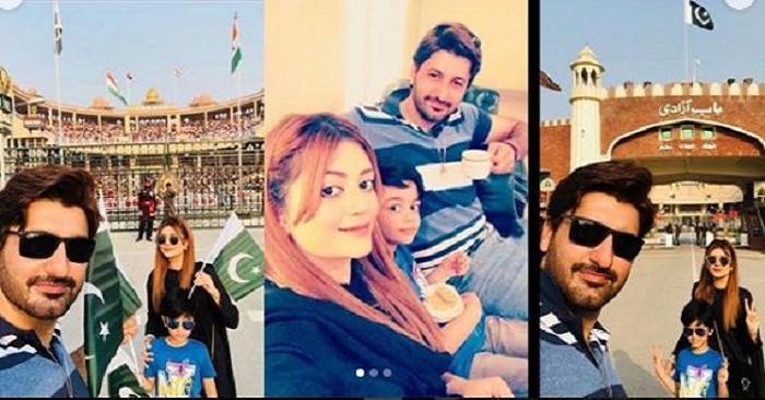 Syed Jibran At Wahga Border Lahore With Family