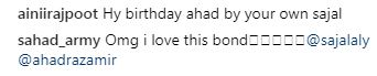 People Have Gone Crazy Over Sajal Ali's Birthday Wish To Ahad Raza Mir