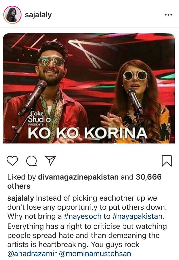Sajal Ali Tells People To Stop Hating On Ko Ko Korina