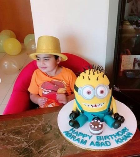 Veena Malik Celebrates Son's Birthday-Pictures