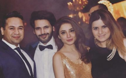 Sarwat Gillani And Fahad Mirza At A Party