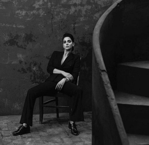 Saba Qamar Dressed Up In A Power Suit