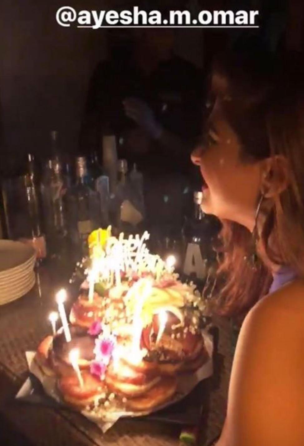 Ayesha Omar's Late Night Birthday Celebration