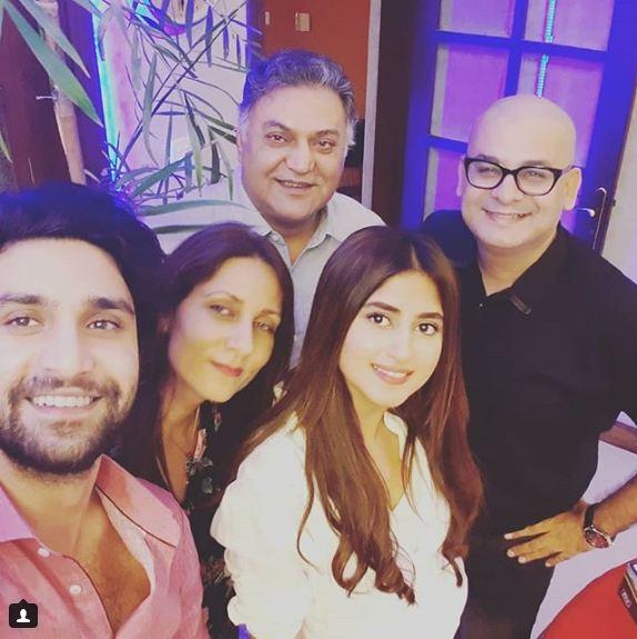Ahad Raza Mir Celebrated His Birthday With Sajal Ali And Family