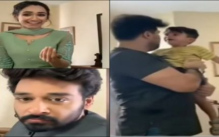 Faysal Qureshi and Faryal Mehmood Handling A Kid Off Screen