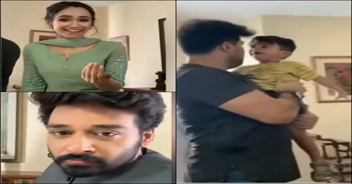 Faysal Qureshi and Faryal Mehmood Handling A Kid Off Screen