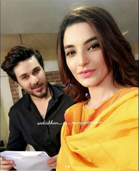 Ahsan And Sadia Khan Pictures From The Sets Of Maryam Pereira