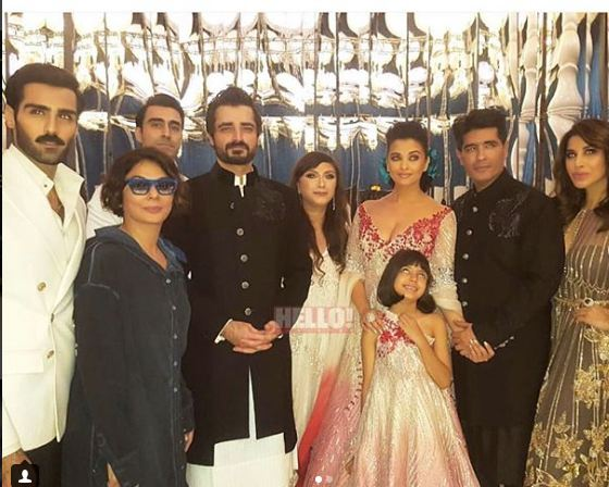 Hamza Ali Abbasi With Aishwarya Rai At Doha Fashion Show