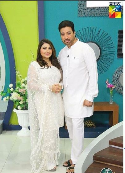 Javeria Saud With Her Husband Looking Stunning In A Wedding