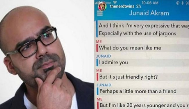 Screenshots Of Junaid Akram's Inappropriate Conversation With A Girl Leaked