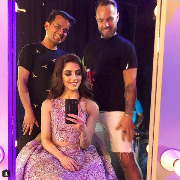 Maya Ali Shares Tea With Her Makeup Artist