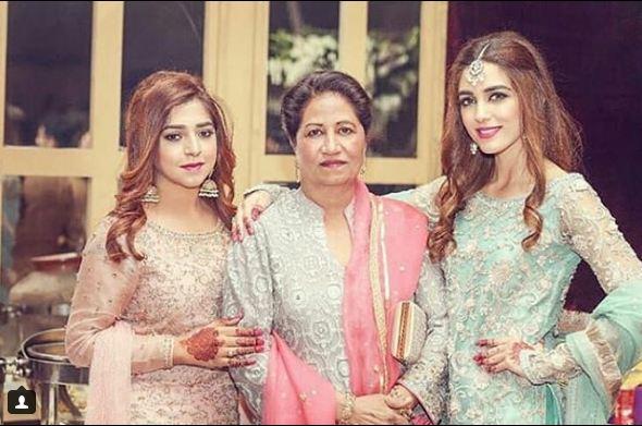 Beautiful Maya Ali With Her Cute Family