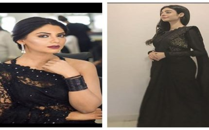 Two Famous Celebrities Wore Black Sari Recently