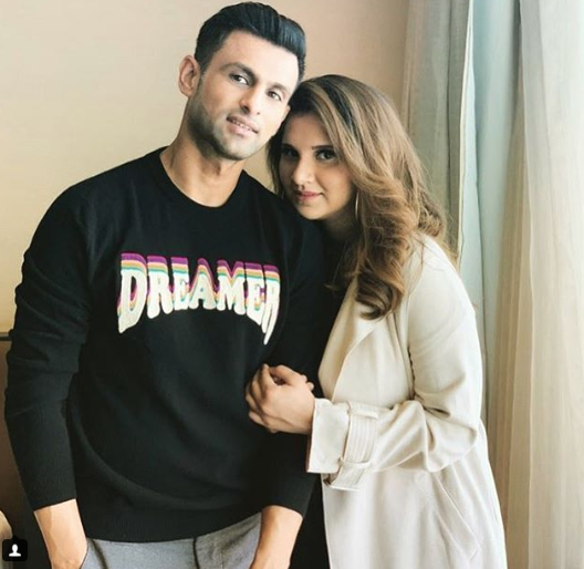 Shoaib and Sania Latest Pictures in Hyderabad