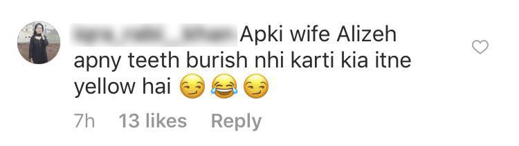 Hate Comments Under Feroze Khan's Picture With His Wife