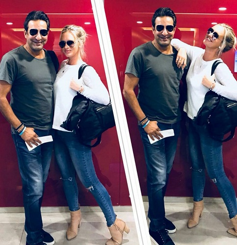 Wasim Akram With Family-Pictures